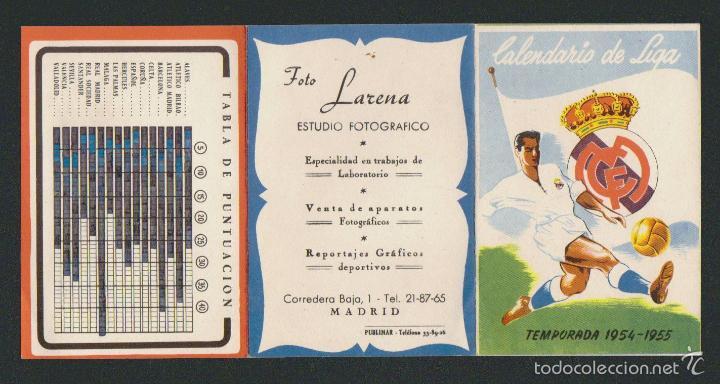 Coleccionismo deportivo: Calendario y resultados de liga de primera división.Temporada 1954-1955. - Foto 3 - 57799944