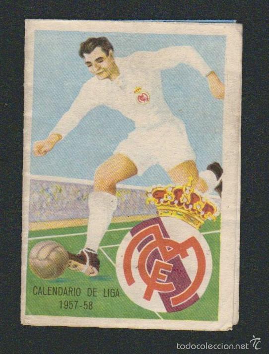 CALENDARIO Y RESULTADOS DE LIGA DE PRIMERA-SEGUNDA DIVISIÓN.TEMPORADA 1957-1958. (Coleccionismo Deportivo - Documentos de Deportes - Calendarios)