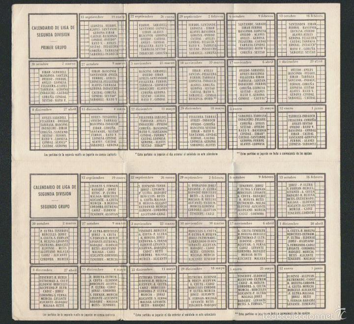 Coleccionismo deportivo: Calendario y resultados de liga de primera-segunda división.Temporada 1957-1958. - Foto 3 - 57800147