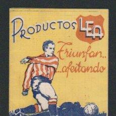 Coleccionismo deportivo: CALENDARIO Y RESULTADOS DE LIGA DE PRIMERA-SEGUNDA DIVISIÓN.TEMPORADA 1950-1951.PRODUCTOS LEA.. Lote 57800215