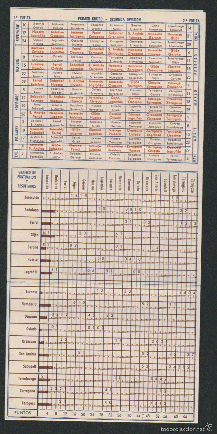 Coleccionismo deportivo: Calendario y resultados de liga de primera-segunda división.Temporada 1950-1951.Productos Lea. - Foto 3 - 57800215