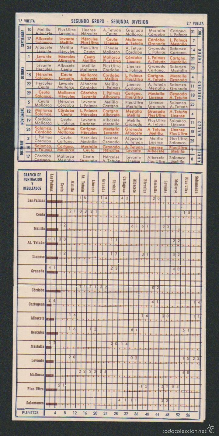 Coleccionismo deportivo: Calendario y resultados de liga de primera-segunda división.Temporada 1950-1951.Productos Lea. - Foto 4 - 57800215