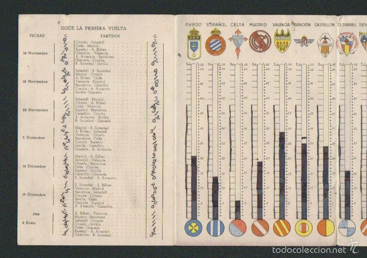 Coleccionismo deportivo: Calendario estadistico del campeonato nacional de primera división de liga para 1943-1944.Ceregumil - Foto 4 - 57800264