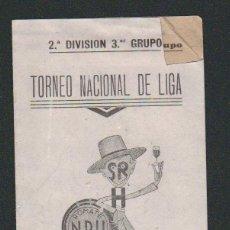Coleccionismo deportivo: CALENDARIO NACIONAL DE LIGA.2ª DIVISIÓN.3ER.GRUPO.TEMP.42-43.PUBLICIDAD DE BODEGAS ROMATE.JEREZ. Lote 57824861