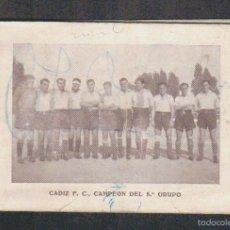 Coleccionismo deportivo: CALENDARIO FUTBOLISTICO.CÁDIZ .F.C.AÑOS 40. Lote 57826671