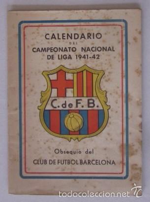 CALENDARIO CAMPEONATO NACIONAL DE LIGA 1941-1942 (Coleccionismo Deportivo - Documentos de Deportes - Calendarios)