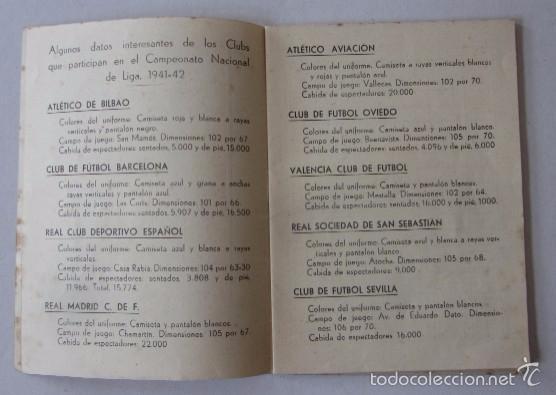 Coleccionismo deportivo: CALENDARIO CAMPEONATO NACIONAL DE LIGA 1941-1942 - Foto 2 - 58021761