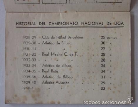 Coleccionismo deportivo: CALENDARIO CAMPEONATO NACIONAL DE LIGA 1941-1942 - Foto 3 - 58021761
