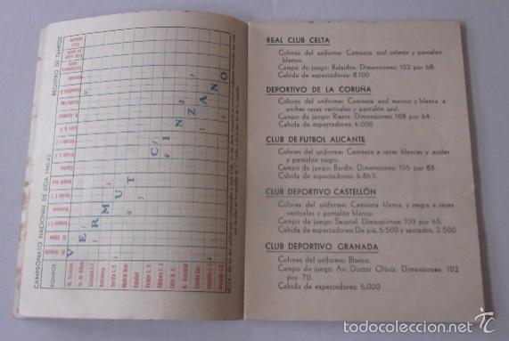 Coleccionismo deportivo: CALENDARIO CAMPEONATO NACIONAL DE LIGA 1941-1942 - Foto 4 - 58021761