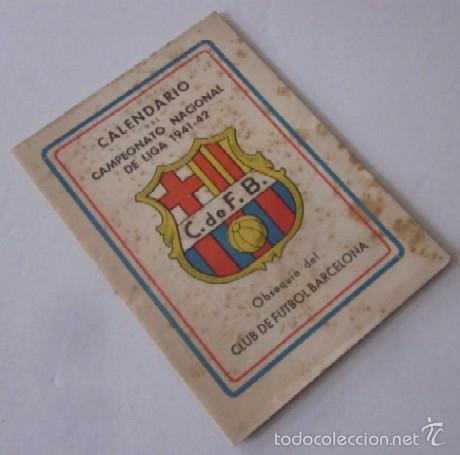 Coleccionismo deportivo: CALENDARIO CAMPEONATO NACIONAL DE LIGA 1941-1942 - Foto 9 - 58021761