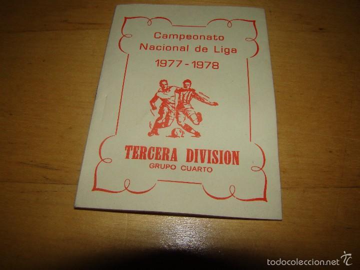 antiguo calendario fútbol tercera división - gr - Comprar ...