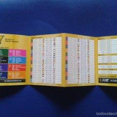 Coleccionismo deportivo: CALENDARIO DE FUTBOL MUNDIAL 2014 COPA DEL MUNDO BRASIL 2014 INTER WETTEN. Lote 58300513