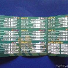Coleccionismo deportivo: CALENDARIO DE FUTBOL MUNDIAL 2014 COPA DEL MUNDO BRASIL 2014 PLANETA CASA. Lote 58300523