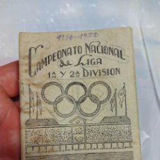 Coleccionismo deportivo: GUIA CALENDARIO LIGA DE FÚTBOL 1951-52. Lote 58592378