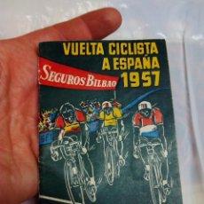 Coleccionismo deportivo: CALENDARIO GUÍA VUELTA CICLISTA A ESPAÑA 1957. Lote 58592582