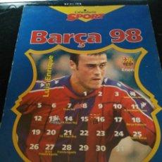 Coleccionismo deportivo: CALENDARIO 1998 FUTBOL CLUB FC BARCELONA F.C BARÇA CF TAMAÑO FOLIO 12 TARGETAS CON JUGADORES. Lote 58616981
