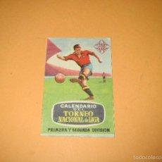 Coleccionismo deportivo: ANTIGUO CALENDARIO TORNEO NACIONAL DE LIGA FUTBOL DEL 1962-63 1ª Y 2ª DIVISIÓN PUBLICIDAD TELEFUNKEN. Lote 58701609