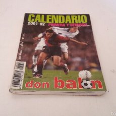"""Coleccionismo deportivo: CALENDARIO """"""""DON BALON"""""""" LIGA 2001/02.. Lote 58730016"""