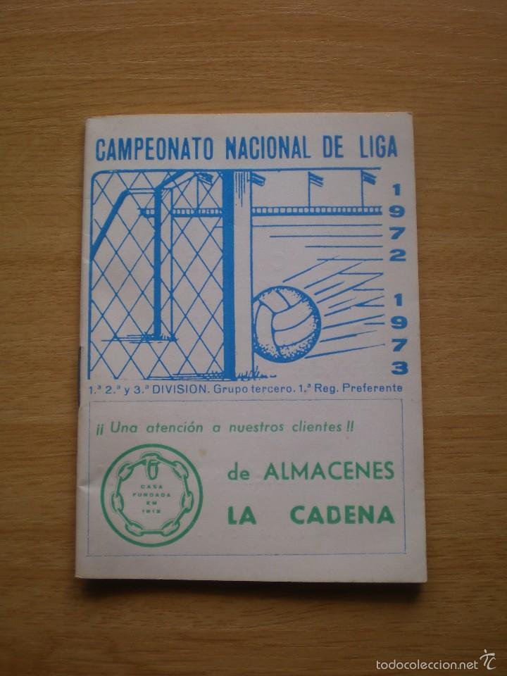 CALENDARIO DEPORTIVO DE FUTBOL TEMPORADA 1972 1973 (Coleccionismo Deportivo - Documentos de Deportes - Calendarios)