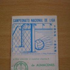 Coleccionismo deportivo: CALENDARIO DEPORTIVO DE FUTBOL TEMPORADA 1972 1973. Lote 59468185