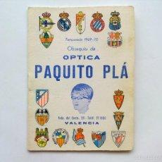Coleccionismo deportivo: CALENDARIO FUTBOL TEMPORADA 1969 70. Lote 59518863
