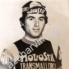 Coleccionismo deportivo: ESPECTACULAR FOTOGRAFIA DEL CICLISTA ANTONIO VALLORI, EQUIPO NOVOSTIL, 1976, 180X240MM. Lote 59577179