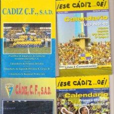 Coleccionismo deportivo: LOTE 4 CALENDARIOS DEL CÁDIZ CF. Lote 60375931