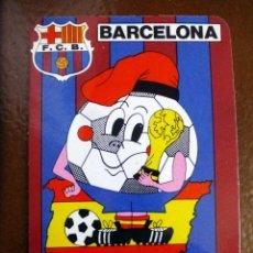 Coleccionismo deportivo: 2 CALENDARIOS BARCELONA-82 FC BARCELONA Y REAL CLUB DEPORTIVO ESPAÑOL. Lote 60664835