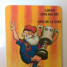 Coleccionismo deportivo: BARÇA FÚTBOL CAMPEÓN COPA DEL REY Y COPA DE LA LIGA CALENDARIO 1984. Lote 60706602