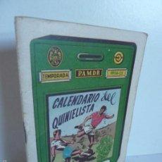 Coleccionismo deportivo: CALENDARIO DEL QUINIELISTA TEMPORADA 1954 - 55 OBSEQUIO EXCMA DIPUTACIÓN DE VALENCIA . Lote 60796175