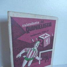 Coleccionismo deportivo: CALENDARIO DEL QUINIELISTA TEMPORADA 1966 - 67 OBSEQUIO EXCMA DIPUTACIÓN DE VALENCIA. CUB EDO MOSQU. Lote 60796371