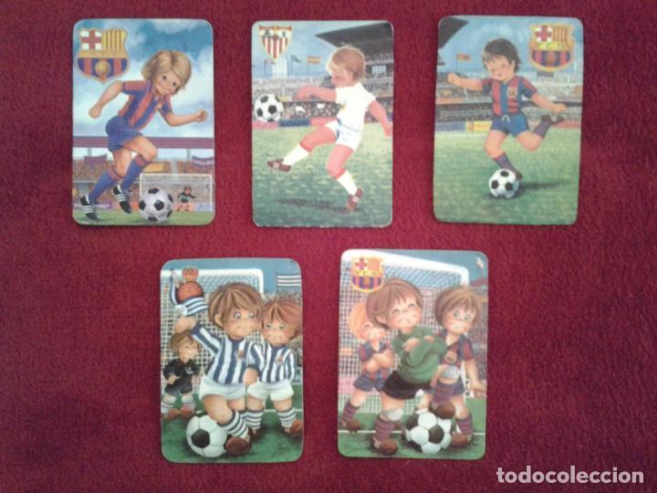 LOTE DE 5 CALENDARIOS DE VARIOS EQUIPOS DE FUTBOL, AÑOS 70 Y 80 (Coleccionismo Deportivo - Documentos de Deportes - Calendarios)