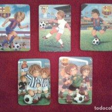Coleccionismo deportivo: LOTE DE 5 CALENDARIOS DE VARIOS EQUIPOS DE FUTBOL, AÑOS 70 Y 80. Lote 61459735