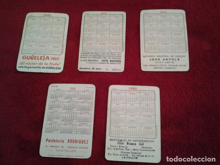 Coleccionismo deportivo: LOTE DE 5 CALENDARIOS DE VARIOS EQUIPOS DE FUTBOL, AÑOS 70 Y 80 - Foto 2 - 61459735