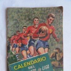 Coleccionismo deportivo: CALENDARIO CAMPEONATO LIGA TEMPORADA 1960-61. PUBLICIDAD CERVEZA SAN MIGUEL.. Lote 61538544