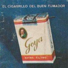 Collectionnisme sportif: CALENDARIO FUTBOL 1973 1974 PUBLICIDAD CIGARRILLO GOYA FARUK SOLISOMBRA TRES ANCLAS TABACO. Lote 61616904