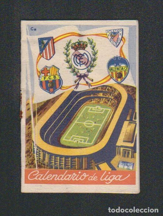 CALENDARIO DE LIGA.AÑOS 50.PUBLICIDAD DE CASA PIBE ( FOTOGRAFIA ).MADRID. (Coleccionismo Deportivo - Documentos de Deportes - Calendarios)