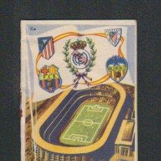 Coleccionismo deportivo: CALENDARIO DE LIGA.AÑOS 50.PUBLICIDAD DE CASA PIBE ( FOTOGRAFIA ).MADRID.. Lote 61887544