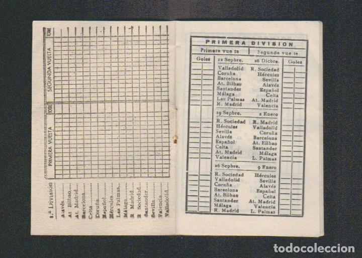 Coleccionismo deportivo: Calendario de liga.Años 50.Publicidad de Casa Pibe ( fotografia ).Madrid. - Foto 2 - 61887544