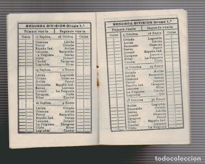 Coleccionismo deportivo: Calendario de liga.Años 50.Publicidad de Casa Pibe ( fotografia ).Madrid. - Foto 4 - 61887544
