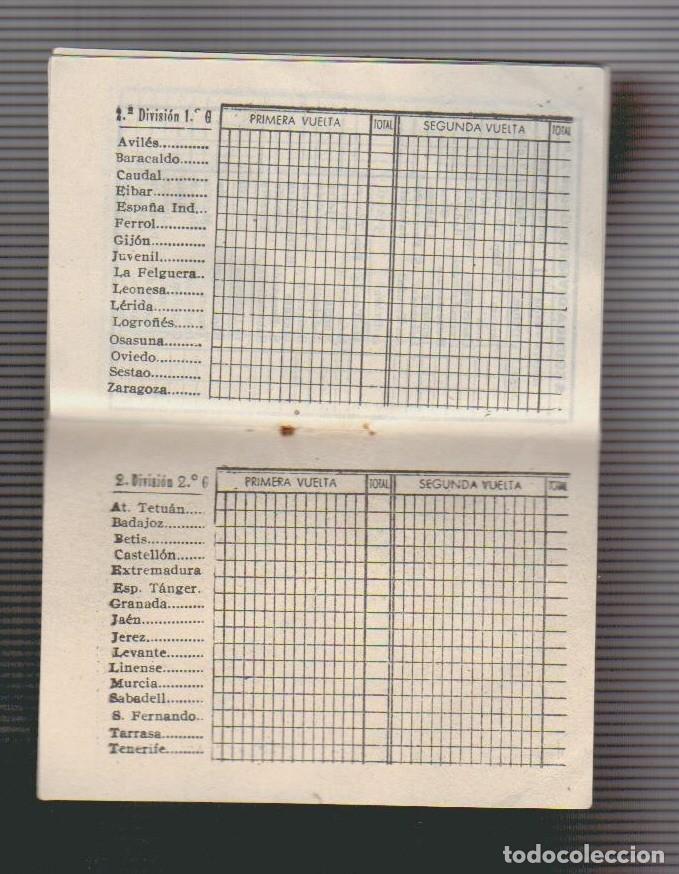 Coleccionismo deportivo: Calendario de liga.Años 50.Publicidad de Casa Pibe ( fotografia ).Madrid. - Foto 6 - 61887544