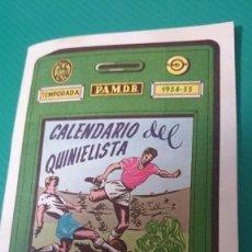 Coleccionismo deportivo: CALENDARIO DEL QUINIELISTA LIGA 1954-55 OBSEQUIO DIPUTACION DE VALENCIA. 40 PAGINAS PASTA DURA . Lote 62051144