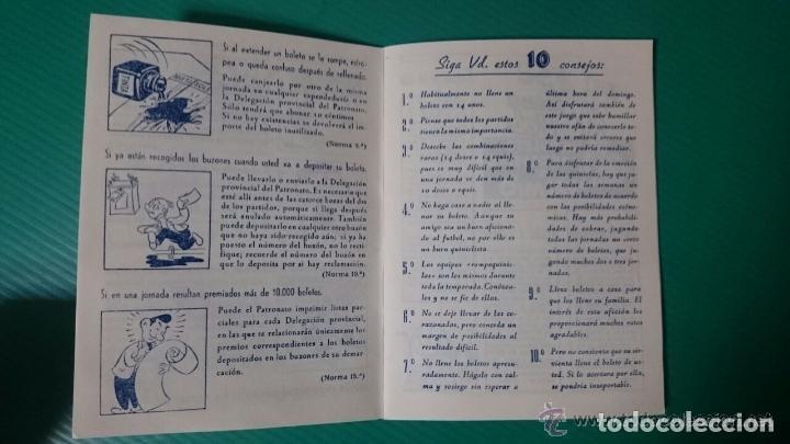Coleccionismo deportivo: CALENDARIO DEL QUINIELISTA LIGA 1954-55 OBSEQUIO DIPUTACION DE VALENCIA. 40 PAGINAS PASTA DURA - Foto 3 - 62051144