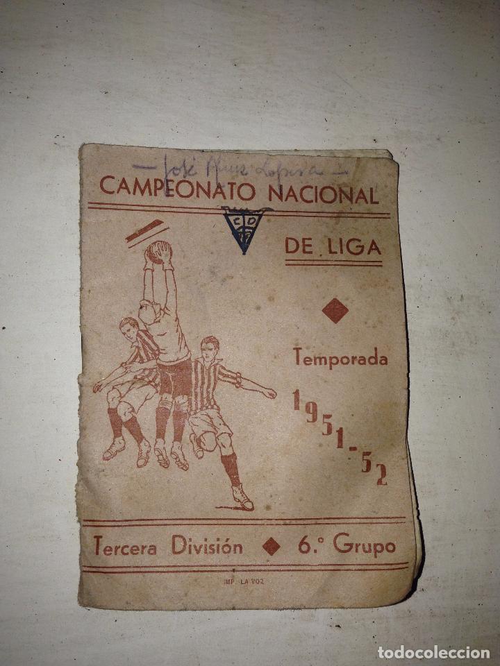 Calendario Tercera Division.P C Calendario Nacional De Liga Tercera Division Ano 1951 52