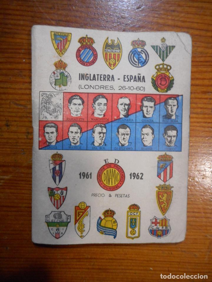 FÚTBOL, CALENDARIO DINÁMICO 1960-61. RESULTADOS, CLASIFICACIONES,FOTOS DE LOS JUGADORES. BUEN ESTADO (Coleccionismo Deportivo - Documentos de Deportes - Calendarios)