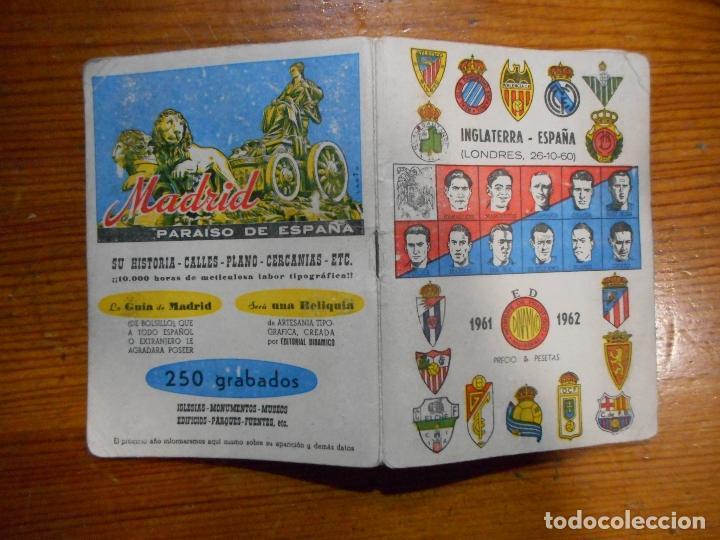 Coleccionismo deportivo: Fútbol, Calendario Dinámico 1960-61. Resultados, clasificaciones,fotos de los jugadores. Buen estado - Foto 2 - 63485664