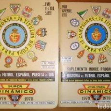 Coleccionismo deportivo: CALENDARIO DINAMICO CON SUPLEMENTO TEMP 1978 / 1979. Lote 65888166