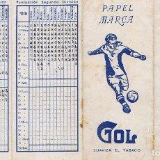 Coleccionismo deportivo: CALENDARIO DEL CAMPEONATO NACIONAL DE LIGA DE PRIMERA Y SEGUNDA DIVISION 1943-44 - CON PUBLICIDAD DE. Lote 66151210
