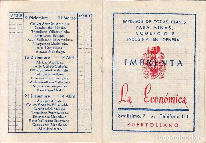 Coleccionismo deportivo: 1962 63 PUERTOLLANO (CIUDAD REAL). MANCHEGO VALDEPEÑAS CALVO SOTELO. CALENDARIO FUTBOL 3ª DIVISION - Foto 3 - 66254630