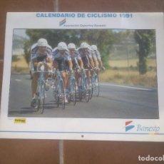Coleccionismo deportivo: CALENDARIO PARED CICLISMO BANESTO 1991. Lote 66794926